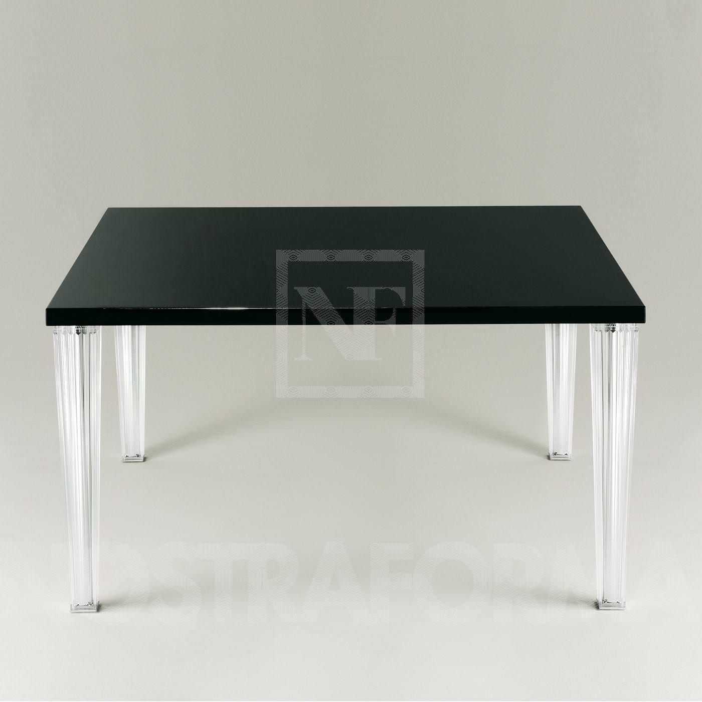 Kartell 42453P Tisch TopTop schwarz glänzend