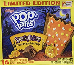 Kellogg\'s Frosted Chocolate Fudge Spookylicious Pop Tarts Limited Editon 16 Count Box