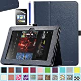 Kindle Fire HD 8.9 Case - ULAK Slim Fit PU Leather Standing Protective Cover with Auto Sleep/Wake Feature for Amazon Kindle Fire HD 8.9 Inch 2012 Gen with Screen Protector, Navy Blue