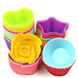 MLMSY Cupcake Baking Silicone Cake Molds For Baking Non Stick 24Pcs (Color: T1, Tamaño: Cake Molds)