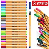 Stabilo 8830-1 88 Point 30 Color Wallet- Product Dimensions 5.7 x 0.7 x 7.9 inches -Color:Assorted -Size:1 -Pack-Water-based-Ink in vibrant colors-E-book Gift@