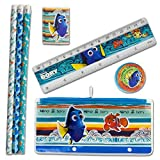 Disney Finding Dory School Supply Stationery Set; 3 Folders 3 Pencils, 100-page notepad Large, 100-Page Notepad Small, 1 Pencil Sharpener, 1 Pencil Case, 1 Eraser and 1 Ruler   Classroom Pack.