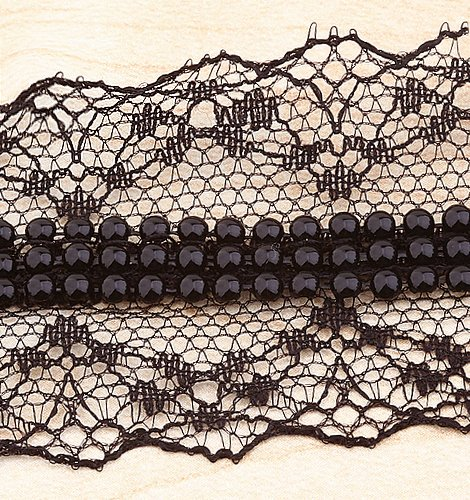 10yard Black Lace Combine Beads Sewing Trim Lace 1.57
