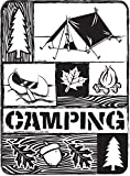 """Embossing Folder 4.25""""X5.75""""-Camping Collage"""