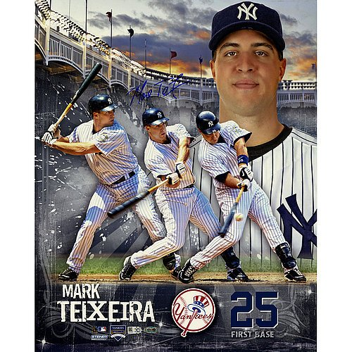 Mark Teixeira Signed 16X20 Multi Exposure Photo ( Mlb Auth) front-696885