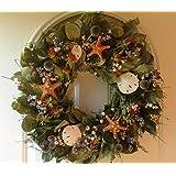 Gulf Shore Nautical Seashell Wreath