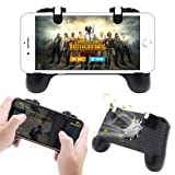 Pakesi Mobile Game Controller for PUBG 4-in-1 Upgrade Version Gamepad Shoot and Aim Trigger Phone Cooling Pad Power Bank for Android & iOS Fortnite/Knives Out(2000amh) (Color: Black(2000mah), Tamaño: R1025-XBK-2000mah)