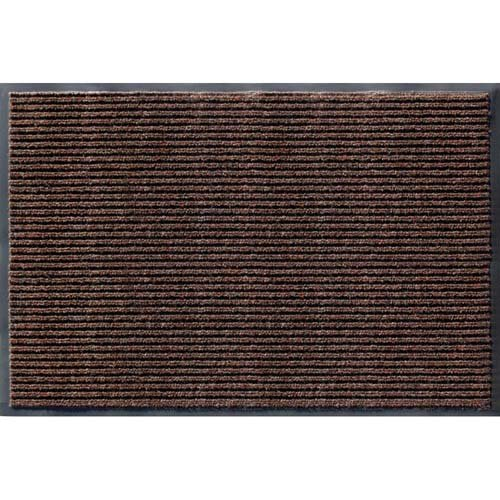 Apache Mills 01-033-1410 Rib Commercial Carpeted Indoor and Outdoor Floor Mat, Cocoa Brown, 2 by 3-Feet