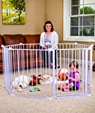 Regalo-192-Inch-Super-Wide-Gate-and-Play-Yard-White