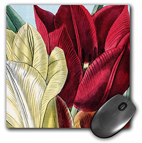 PS Vintage - Vintage Tulip Flowers - MousePad (mp_203816_1)