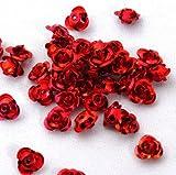 アルミ薔薇 6mm Red 30個入 アルミバラ
