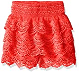 My Michelle Girls Crochet Four Tier Short with Elastic Waistband