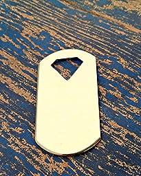 Bro Blanks Aluminum Dog Tag with diamond on top Stamping Blanks - Aluminum Blanks - Qty 5 - 14 Gauge - Unpolished