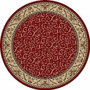 Radici 1599 COMO Rugs, 5-Feet 3-Inch, Red