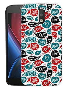 "Love Is All You Need Printed Designer Mobile Back Cover For ""Motorola Moto G4 PLUS"" (3D, Matte, Premium Quality Snap On Case)"