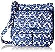 Vera Bradley Double Zip Mailbag, Cobalt Tile