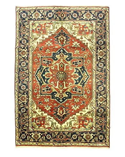 Bashian Hand Knotted Indo Rug, Rust, 6' x 8' 10