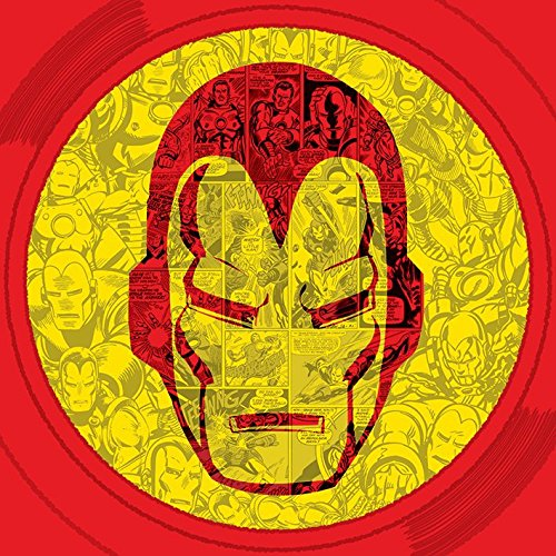 "Marvel Comics Iron Man "", Collage-Tela, 40 x 40 cm, motivo: impronte, colore: multicolore"
