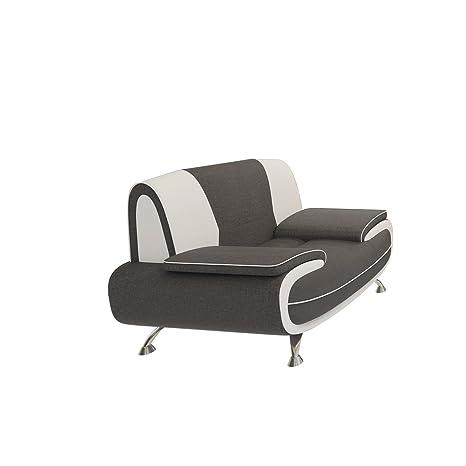 Polstersessel Einzelsofa Palermo, Lounge Sessel vom Hersteller, Modern Relaxsessel Kunstleder, Sofagarnitur, Couchgarnitur (Sawana 05 + D-511)