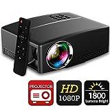 Projector 1080P 1800 Lumens 2200:1 Contrast 180