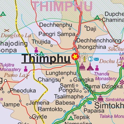 Bhutan : 1/380 000: ITM.097