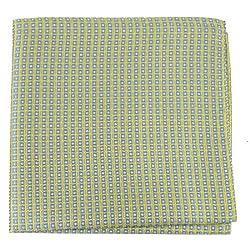 PS-10450 - Yellow - Gray Mens Fashion Pocket Sqare