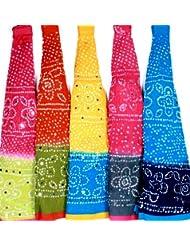 Famacart Women's Ethnicwear Combo Pack Of 5 Cotton Dupattas - B012GODRRA