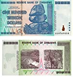 Trillion Dollar Pair Zimbabwe - 50 Trillion & 100 Trillion Dollar Notes