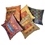 Ufc Mart Jacquard Multi -Color Cushion Cover 5 Pcs. Set, Color: Multi-Color, #Ufc00462
