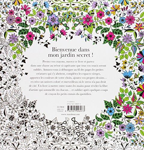 Libro jardin secret carnet de coloriage et chasse au - Mon jardin secret coloriage ...