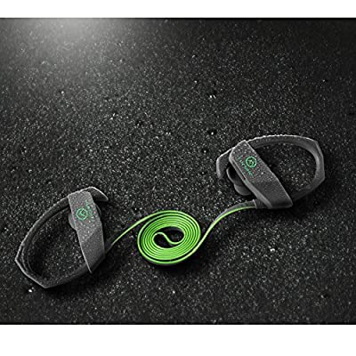 Forone Bluetooth Earbuds,IPX6 Waterproof Wireless Sport Running Bluetooth Headphones,V4.1 Gym Noise Cancelling Stereo Handsfree Secure Fit Headset with Mic(Grey)
