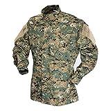 Tru-Spec TAC T.R.U.Shirts 50/50 Nylon/Cotton Rip-Stop, Digital Woodland, Large Long 1389025