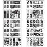 Bundle Monster 10pc Extra Large Full Nail Art Retangular Shape XL Stamping Plates, Set 1: 1-10