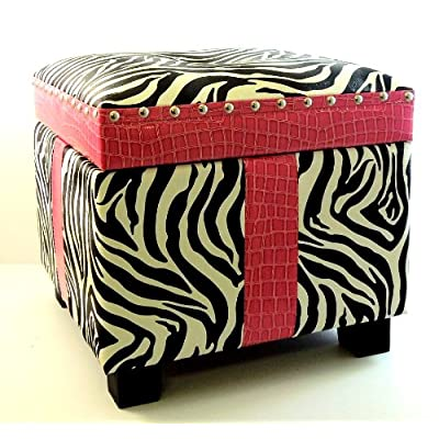 Amazon.com - Faux Pink Patent Leather Zebra Animal Print ...