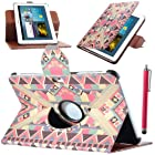 Sumsung Tab 2 10.1 Case, ULAK 360 Rotating Multi Viewing Angles Stand Case Cover for Samsung Galaxy Tab 2 10.1 P5100 /P5110/P5113 Announced 2012 with Touch Stylus and Screen Protector (Fashion Tribal Pattern BOLD)