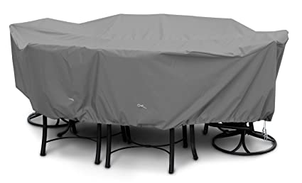 KoverRoos Weathermax 87252 Medium Rectangular Dining Set Cover, 94 by 64 by 28-Inch, Charcoal