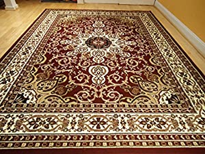 Area rug traditional persian design 5x7 rug for Dining room rugs 5x7
