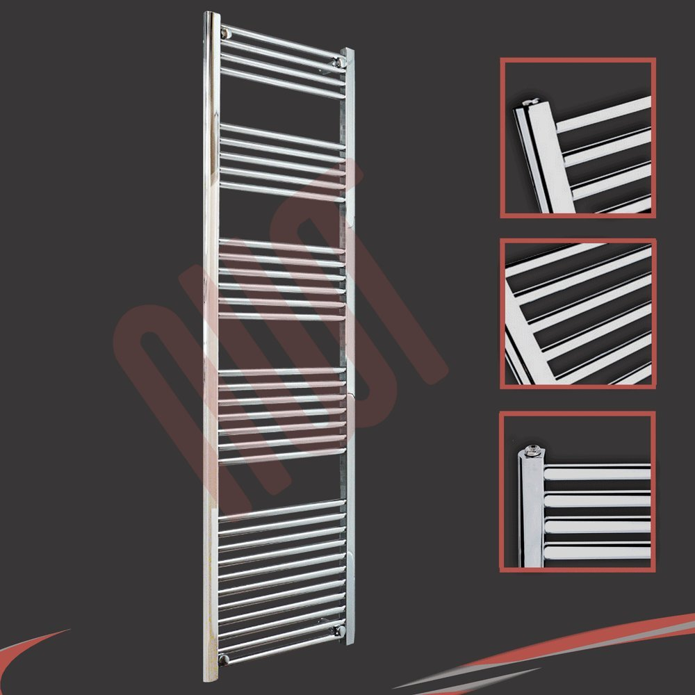 500mm(w) x 1800mm(h) Straight Chrome Heated Towel Rail, Radiator, Warmer 2923 BTUs Bathroom Central Heating Ladder Rail       Customer review