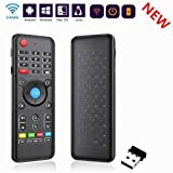 Yongf Air Mouse Mini Wireless Keyboard H1,Fly Air Remote Mouse,Rechargeable Mouse with Touchpad Combo with IR Learning Mouse Combo for Android Tv Box.HTPC.IPTV.Pad PS3/PS4,PC. (Color: H1)