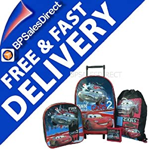 4pcs Disney Cars 2 Trolley Wheeled Bag Luggage Set  from DISNEY CARS 2