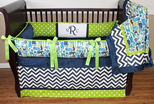 Navy And Lime Green Bedding front-126918