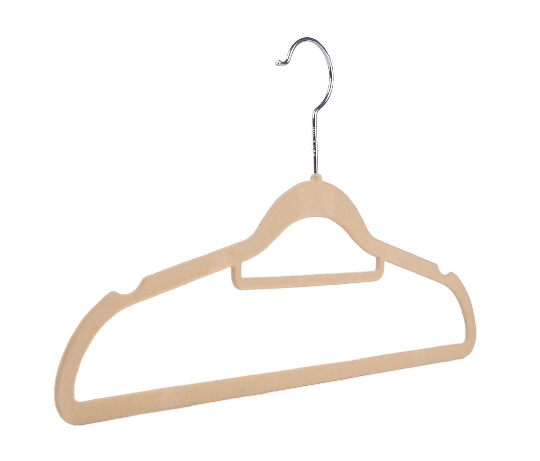 rutschfest beflockt farbig samt platz sparend mantel kleiderb gel mit ebay. Black Bedroom Furniture Sets. Home Design Ideas