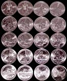 National Park Quarters Set 2010-2011 Complete Set P&D 20 Uncirculated Coins