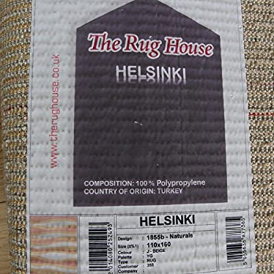Helsinki Thick Soft Natural Non Shed Plush Shag Shaggy Waves Design Area Rug 1855 - 4 Sizes Available