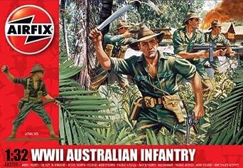 Amazon.com: Airfix A02709 WWII Australian Infantry 1:32 Scale Military