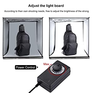 Photo Light Box, PULUZ Portable 16''x16'' Inch Super Bright Photography Studio Light Box Shooting Tent Kit with 6 Background Papers and Brightness Dimmer for Photography (Tamaño: 16*16 Inch)