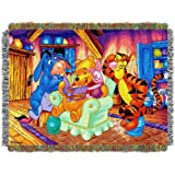 Disney, Winnie the Pooh, Story Time  48-Inch-by-60-Inch Acrylic Tapestry Throw by The Northwest Company