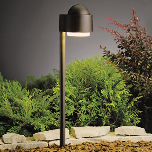 15360AZT Simplicity Side Mount 1LT Incandescent/LED Hybrid LV Landscape Path & Spread Light, Textured Architectural Bronze Finish