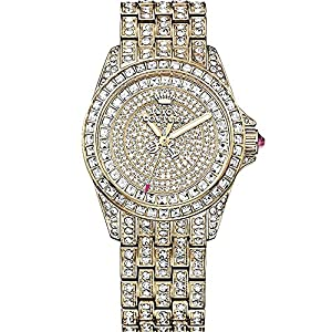 Juicy Couture 1901213 Ladies Stella Gold Stone Set Watch With Stone Set Gold Dial