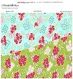 moda fabrics 【30cm以上】Moda Hello Darling春らしいカラーのシリーズ花柄のかわいいプリント生地◆モダの布地 【モーダ】【輸入生地】【USAコットン】【手芸の柳屋】 13 水色系